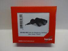 Herpa 051453-003 Dolly pour Hängerzug dure 4 pièces bleu 1:87 NOUVEAU