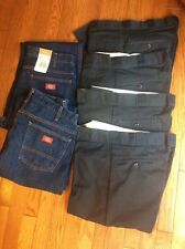 Men's Dickies Navy Pants and Jean ~ 34x30 lot of 6