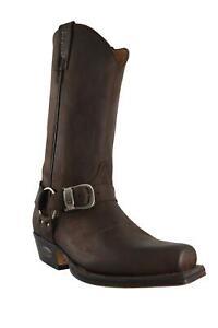 Loblan 652 Medium Square Toe Browm Waxy Leather Boots