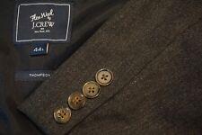 J.Crew The Wool Thompson Gray Wool Blend 2 Pc Suit Jacket Pants Sz 44L