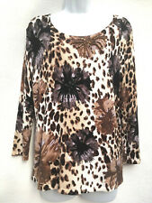 GERRY WEBER ~ Beaded Animal Print Stretch Jumper ~ Pullover ~ Sweater ~ UK 12