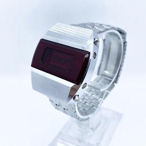Vintage USSR Rare Digital Diode Wristwatch Elektronika Pulsar Terminator 1970s