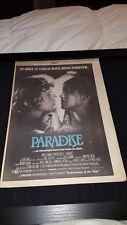 Paradise Phoebe Cates Rare Original 1981 Promo Poster Ad Framed!