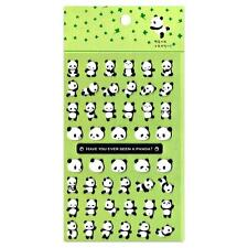 CUTE PANDA STICKERS Puffy Raised Vinyl Sticker Sheet NEW Kids Craft Scrapbook