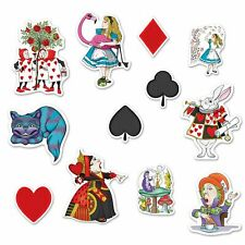 Alice in Wonderland Cutouts x 12