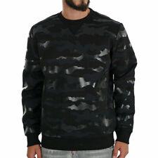DIESEL S OLIVER Mens Casual Sweatshirt Black Pullover Military Camouflage Jumper