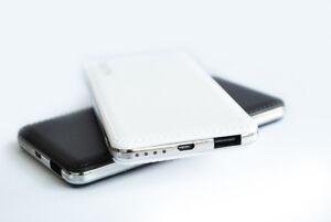 8000mAh Power Bank Portable ULTRA SLIM SOFT COVER - WHITE