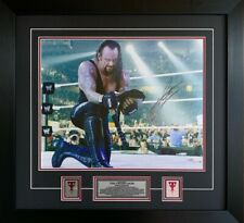 WWE Superstar The Undertaker Signed 16x20 Framed Picture Authenticated w/ COA