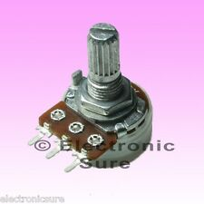 10 x A20K Ohm 20KA Logarithmic Taper Potentiometer 17 mm Shaft with Dust Seal