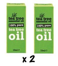 2 x 10 ml Bottles 100 % Pure Tea Tree Essential Oil 10ml Antiseptic Anti Fungal