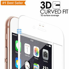 White Full Cover Tempered Glass 3D Curved Screen Protector For iPhone 6S Plus