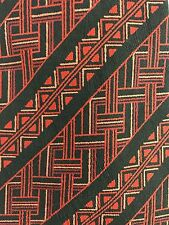 EUC Cartier Paris 100% Silk Necktie Red & Black Geometric 55x4""
