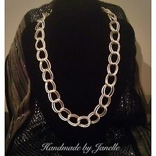 Silver Large Link Chain Necklace Handmade