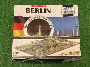 4D Cityscape Jigsaw Puzzle - Berlin City Map With Time Layer New Open Box