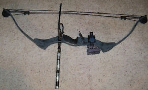 """Browning Summit Compound Bow, Camo, 27-30"""" Draw, 45-70 LB, Sights, Weight, Rest"""