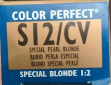 WELLA Color PERFECT Hair Color Special Creme Gel Pearl Blonde S12/CV 2 oz 1:2