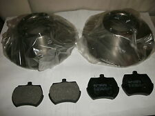MG MIDGET AUSTIN HEALEY SPRITE BRAKE ROTORS (SET/2) & PADS,FOR STEEL WHEEL CARS