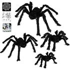 Halloween Spider Decorations, Aitey Scary Giant Set With 4 Large Fake Spider, 20