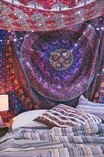 Indian Mandala Wall Hanging Bohemian Twin Tapestry Bedding Throw Christmas Decor
