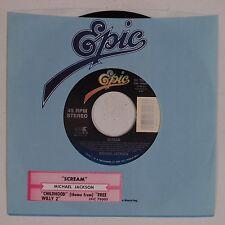 MICHAEL JACKSON: Scream / Childhood Free Willy 2 EPIC Stock 45 NM Sleeve Strip