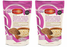 Linwoods Milled Flaxseed Almonds Brazil Nuts Walnuts & Co-Q10 360g Pack of 2