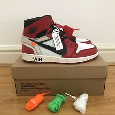NIKE x OFF WHITE AIR JORDAN 1 THE 10 VIRGIL ABLOH 100% AUTHENTIC SIZE UK10/US11