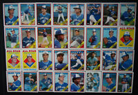 1988 Topps Toronto Blue Jays Team Set of 37 Baseball Cards With Traded