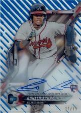 MLB Card 2018 Ronald Acuna Jr. TOPPS HIGH TEK Rookie Autograph Card  21/75