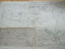 CORNWALL DEVON VINTAGE MAP LARGE 1907 LAWHITTON LEBURNICK TREKELLAND TREGADA
