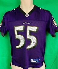 """J.180 NFL Baltimore Ravens TERRELL SUGGS """"T-Sizzle"""" #55 Reebok Jersey YOUTH Med"""