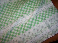 Vintage Utica Percale Kelly Green & White King Size Pillowcases Pair