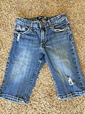 Girls 7 for all Mankind Capri Jean Shorts - Size 12