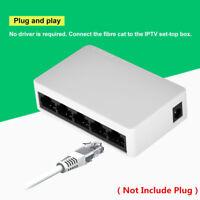 5 Port 10/100 Mbps RJ45 Desktop Ethernet Network LAN Power Adapter Switch Hub