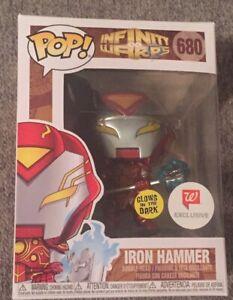 Walgreens EXCLUSIVE Funko POP Infinity Warps Iron Hammer 680 Glow In The Dark!!