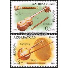 L'Azerbaïdjan Azerbaijan Europe CEPT 2014, instruments de musique, KMPL. Phrase ** Pf.