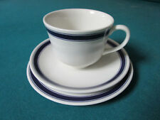 """RALPH LAUREN WEDGWOOD """"CAFE STRIPE"""" TRIO CUP PLATE AND SAUCER [*POTT3C]"""