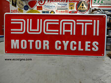 DUCATI  MOTORCYCLE RED EMBOSSED SIGN  EC0012 PARTS & ACCESSORIES