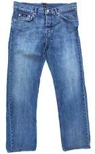 EUC W34 L32 Mens HUGO BOSS 'TEXAS' Regular Fit Indigo Blue Jeans RRP $389