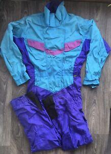 THE NORTH FACE Suit Gore-Tex 90's Vtg Ski Snow One Piece Jacket Pant Women Sz 10