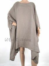 Scoop Neck Linen Tops & Shirts Plus Size for Women