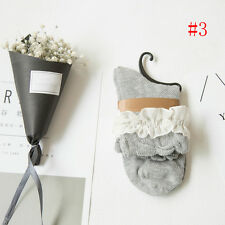Damas volantes de encaje con volantes calcetines calcetines de algodón