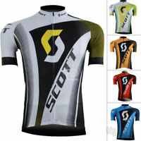 Men's Cycling Tops Clothing Shirt Bike Ride Sports Jersey Short Sleeve Jerseys