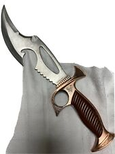 9 Inch Hunting Knife Surgical Steel, Sharp On One Side Claw On the other side