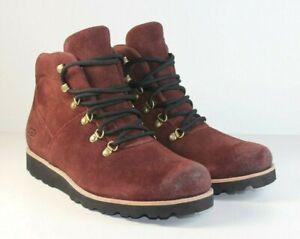 Ugg Waterproof Hafstein Burgundy Suede Boots Men's Size 9
