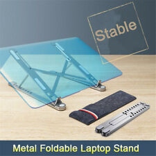 Portable Folding Laptop Stand Aluminum Alloy Adjustable Desk Stand Tablet Holder