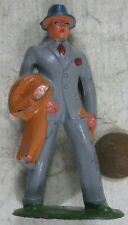 Vintage 1930's Cast Lead Barclay Business Man With Coat Train Layout #1