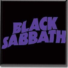 Calamita per frigo Nero con scritta viola Back Sabbath