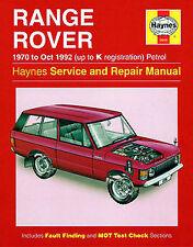 Manuale Haynes Land Rover 1970-oct 1992 fino a K registrazione BENZINA