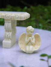 Miniature Dollhouse FAIRY GARDEN Accessories ~ Tiny Ivory Praying Cherub Angel