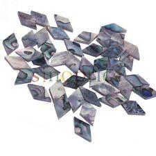 10pcs Paua Abalone Shell Diamond Inlays Guitar Mandolin Banjo Maker 8x13x2mm